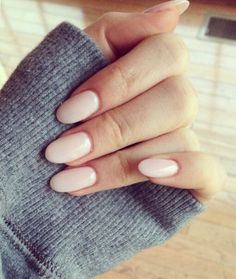 light pink nails