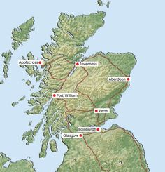 Scotland, have been to Edinburgh, Dumfermline, and Inverness!  Will go to Applecross one day, we know a family there!