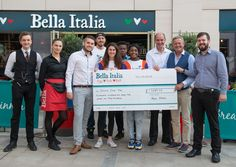 The amazing team at Bella Italia Loughborough managed to raise  £5689.42 for Dreams Come True, a big congratulations to everyone involved.