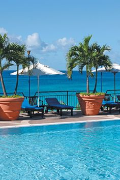 St Martin's La Samanna Resort is known for its sweeping views of the Caribbean. #Jetsetter