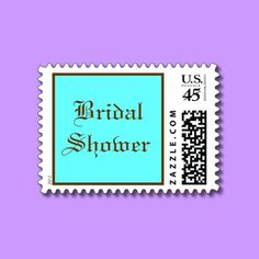 Bridal Shower - postage stamps by Horseshoes3
