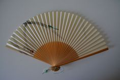 Hand fan, bamboo and paper, vintage Japanese by StyledinJapan on Etsy