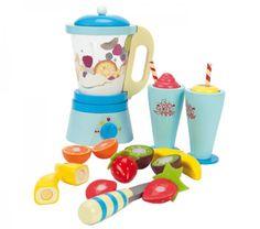 """Le robot """"Fruit & Smooth"""" en bois, un jouet en bois Le toy van Réf : Fruit Blender, Smoothie Blender, Wooden Toy Kitchen, Wooden Food, Dango Peluche, Smoothie Store, Kids Play Food, Kitchen Blenders, Mulberry Bush"""