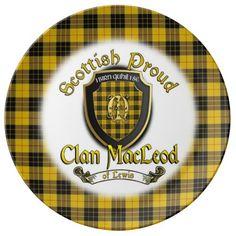 Clan MacLeod of Lewis Scottish Proud Porcelain Porcelain Plate