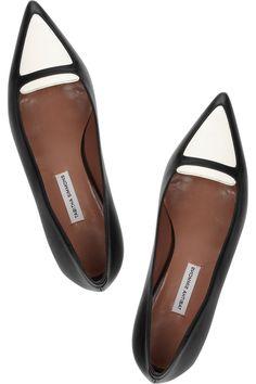 Tabitha Simmons Alexa two-tone leather flats NET-A-PORTER.COM