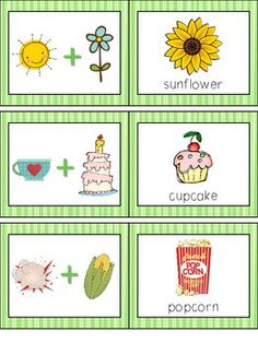 COMPOUND WORDS CONCENTRATION GAME LITERACY CENTER - TeachersPayTeachers.com