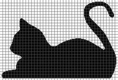 Cat Resting Graphghan Pattern (With Graph and Written Row-By-Row Instructions) - crochet graphghan pattern is 205 x 140 squares and comes with the written row-by-row instructions as well as the graph. You're going to love Cat Resting by design Cat Cross Stitches, Cross Stitch Charts, Cross Stitch Designs, Cross Stitching, Cross Stitch Embroidery, Embroidery Patterns, Cross Stitch Patterns, Loom Patterns, Hand Embroidery