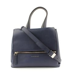 Givenchy Small Pandora Pure Handbag (€1.490) ❤ liked on Polyvore featuring bags, handbags, givenchy bags, givenchy handbags, givenchy purse, flap handbags and flap purse