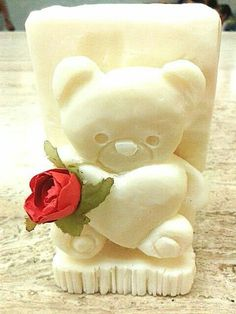 Carving teddy    #soap  #carving  #jabon  #tallado  #love  #teddy #beard