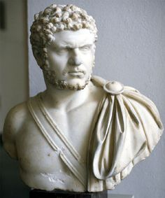 Bust of Caracalla. Born April 4, 188, near modern day Lyon, he eliminated his brother and co-emperor in December 211. He reigned until his assassination by a member of his own troops on April 8, 217, in modern day Turkey.