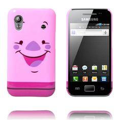Happy Cartoon (Possu) Samsung Galaxy Ace Suojakuori