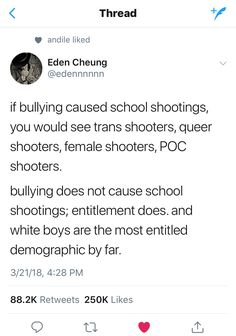 same with having a broken family. having divorced or neglectful parents has nothing to do with shooting up a school Words Quotes, Love Quotes, Sayings, Funny Facts, Funny Memes, Teacher Problems, Fight The Power, Smash The Patriarchy, School Shootings
