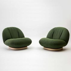 Pair of Pacha Chairs, 1975 By Pierre Paulin Edition Mobilier International
