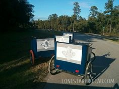 Use Pedicab Back Pack Panels to showcase your Name or Brand