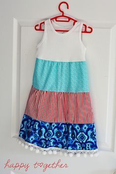 fca1d11ec1 Easy Tank Top 3 Tiered Dress. I could use hubbies old shirt and pj fabric