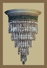 Crystal Chandelier Giclee on canvas Chandelier Art, Chandeliers, Victorian Homes, Wonderful Images, Art Reproductions, Vintage Art, Ceiling Lights, Art Prints, Crystals