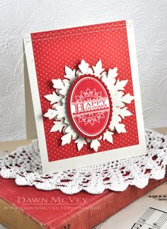 Happy Holidays Card by Dawn McVey for Papertrey Ink (October 2013)