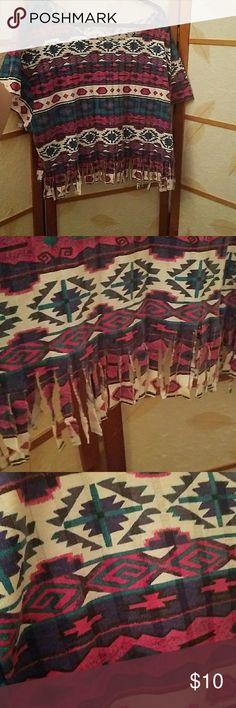 Oversized cut tribal shirt! Wonderful tribal colors Tops Tees - Short Sleeve