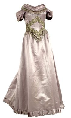 Evening dress, circa 1890s, from the Kansas Historical Society