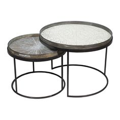 Discover the Notre Monde Round Nesting Tray Table Set at Amara