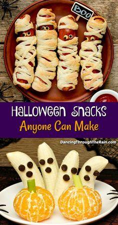 Comida De Halloween Ideas, Halloween Snacks For Kids, Halloween Appetizers, Halloween Dinner, Halloween Food For Party, Halloween Deserts Easy, Fun Food For Kids, Haloween Snacks, Halloween Food Ideas For Kids