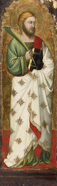 Puccio di Simone - San Giacomo minore - 1347-49 -Tempera e oro su tavola -  Collezione privata