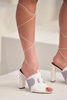 Pin for Later: 12 Awesome Things to Happen to Footwear For Spring '15 Chelsea Paris crafted statement-making lace-ups for Cynthia Rowley. Don't forget to download our POPSUGAR Fashion Week app for the latest from Fashion Week.