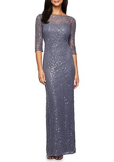 754c6c2958c Alex Evenings Lace and Sequin Gown