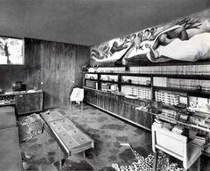 Biblioteca, Casa de campo en Cuernavaca, Morelos, México 1956  Arq. Mario Pani - Library, Weekend house in Cuernavaca, Mexico 1956