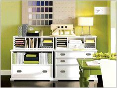Well-arranged Home Storage and Organization Furniture for Pretty Home Interior: Home Storage Systems Office Storage Furniture, Home Office Storage, Home Office Organization, Home Office Space, Organization Ideas, Organized Office, Small Office, Design Café, Table Design