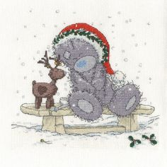Friends In The Snow Me to You Bear Cross Stitch Kit  £20.99
