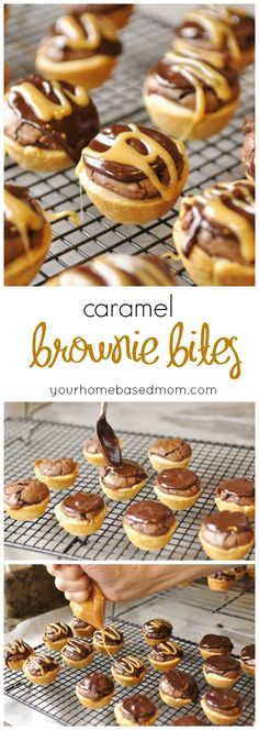 This recipe for Caramel Brownie Bites was taken to the Pillsbury Bake Off - it's a good one!