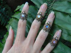 midi ring SET 4 knuckle rings SALE armor rings by gildedingypsy