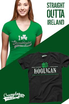 5a35e2d3 Straight outta Ireland with these great St. Patrick's Day Shirts! Erin Go  Braugh,