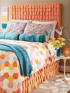 Diy headboard idea. Aprende a tapizar el cabecero de tu cama con este tutorial.