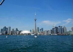 Toronto skyline July, 2012 Places Open, Toronto Skyline, Open My Eyes, Cn Tower, Building, Travel, Viajes, Buildings, Trips