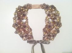 Handmade Crystal and Pearl Peter Pan Collar with by ThePrancingFox, $48.00