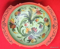 "Norwegian Rosemaling 9"" Bowl - Pat Virch - ALL NEW"