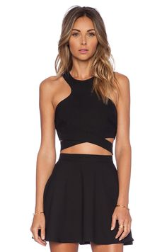 NBC x Naven Twins Chromat Crossover Top in Black #REVOLVEclothing