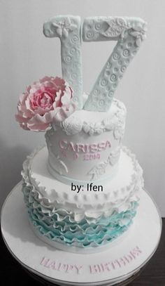 Birthday Cake Sweet 17 Th 17th Party Ideas Teen Girl