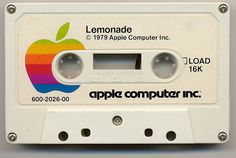 In Apple II games were distributed on cassette tapes. In Apple II games were distributed on cassette tapes. Apple Ii, Bad Apple, Steve Jobs, Lemonade Stand Game, Best Lemonade, Old Computers, Apple Computers, Software, Apple Logo