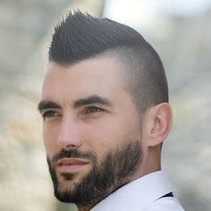 Short Faux Hawk, Short Mohawk, Faux Hawk Men, Faux Mohawk, Fohawk Haircut, Fade Haircut, Mohawk Hairstyles Men, Haircuts For Men, Mens Widows Peak Hairstyles