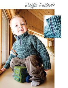 crochet by faye: Waffle Baby Pullover