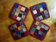 Quilted Coasters Fabric Coasters Hand Quilted by Sewsouthernquilts