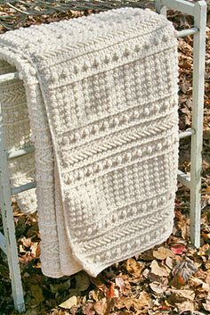 Beautiful knitted blanket