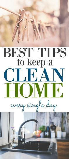Top 3 tips to keep your home cleaning routine going as planned. Keeping a clean home everyday!