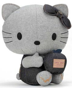 Denim Hello Kitty Plushie.