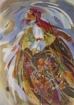 Алёна Косульникова Batik Art, Cute Paintings, Silk Art, Scarf Design, Objet D'art, Torn Paper, Watercolor Techniques, Fabric Painting, Illustrators
