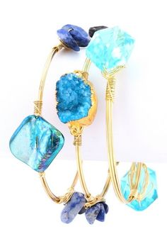 Aveza Tres Bangle Set - Blue