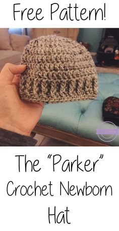 Crochet Newborn Boys Hat - takes 20 min or less! | Sewrella